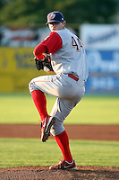 August 26 2008:  Pitcher Justin DeFratus of the Williamsport Crosscutters, Class-A affiliate of the Philadelphia Phillies, during a game at Dwyer Stadium in Batavia, NY.  Photo by:  Mike Janes/Four Seam Images