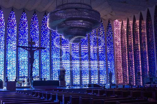 Brasilia, DF, Brazil. Santuario Dom Bosco church.