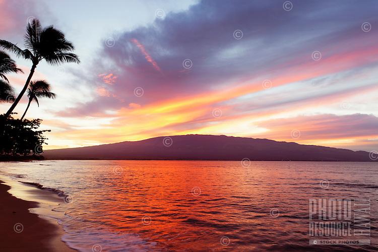 Sunrise at Ma'alaea, Maui.