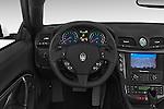 Car pictures of steering wheel view of a 2017 Maserati GranTurismo Convertible Sport Door convertible Steering Wheel