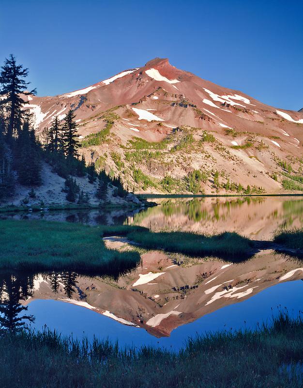 South Sister Mt. and Green Lake. Oregon.