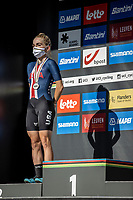 silver medal Kaia Schmid (USA)<br /> <br /> Women Junior – Road Race (WC)<br /> Race from Leuven to Leuven (75km)<br /> <br /> UCI Road World Championships – Flanders Belgium 2021<br /> <br /> ©kramon