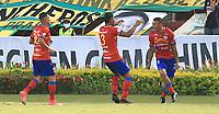 BUCARAMANGA- COLOMBIA,  23-15-2021.Atlético Bucaramanga y Deportivo Pasto en partido por la fecha 15 de la Liga BetPlay DIMAYOR II 2021 jugado en el estadio Alfonso López de la ciudad de Bucaramanga / Atletico Bucaramanga and Deportivo Pasto in match for the date 15 as part of BetPlay DIMAYOR League II 2021 played at  Alfonso Lopez stadium in Bucaramanga city.Photo: VizzorImage / Jaime Moreno / Contribuidor