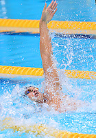 July 30, 2012..Matt Grevers competes in Men's 100m Backstroke Final at the Aquatics Center on day three of 2012 Olympic Games in London, United Kingdom.