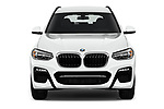 Car photography straight front view of a 2018 BMW X3 M-Sport 5 Door SUV Front View