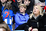 Liverpool Ladies 2 Everton Ladies 1, 19/03/2017. Select Security Stadium, SSE FA Cup Fifth Round. Clare Balding making a programme about women football at the game between Liverpool Ladies v Everton Ladies at The Select Security Stadium, Widnes, in the Women's SSE FA Cup Fifth Round. Photo by Paul Thompson.