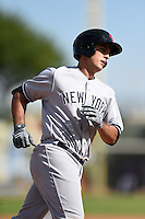 Scottsdale Scorpions infielder Greg Bird (20) runs the bases after hitting a home run during an Arizona Fall League game against the Surprise Saguaros on October 16, 2014 at Surprise Stadium in Surprise, Arizona.  Surprise defeated Scottsdale 7-3.  (Mike Janes/Four Seam Images)