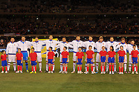 MELBOURNE, AUSTRALIA - JUNE 7: The Serbian team pose for pictures up during an international friendly match between the Qantas Australian Socceroos and Serbia at Etihad Stadium on June 7, 2011 in Melbourne, Australia. Photo by Sydney Low / AsteriskImages.com