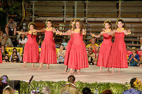 Group hula auana performance at the Merrie Monarch Festival 2008