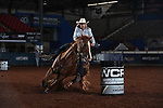 Danyelle Campbell during the second round of barrel qualifiers at the WCRA Stampede at the E. Photo by Andy Watson