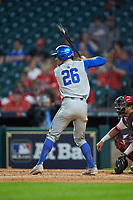Luke Heyer (26) of the Kentucky Wildcats at bat against the Houston Cougars in game two of the 2018 Shriners Hospitals for Children College Classic at Minute Maid Park on March 2, 2018 in Houston, Texas.  The Wildcats defeated the Cougars 14-2 in 7 innings.   (Brian Westerholt/Four Seam Images)