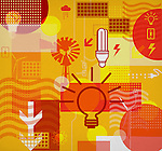 Collage of electrical objects