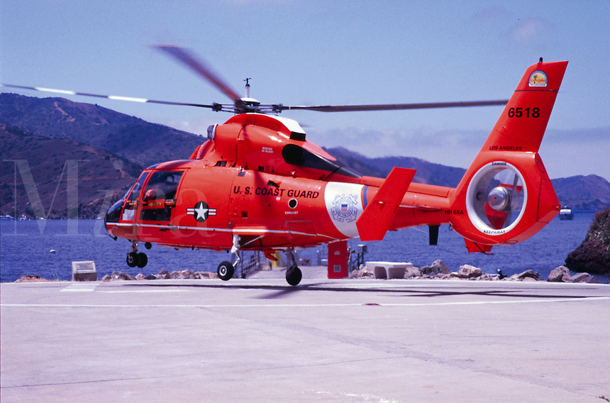 U.S. Coast Guard Rescue helicopter , Catalina Island, CA.