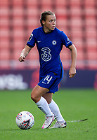 6th September 2020; Leigh Sports Village, Lancashire, England; Women's English Super League, Manchester United Women versus Chelsea Women; Fran Kirby of Chelsea Women look to pass the ball