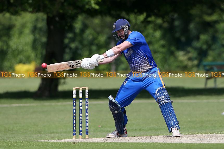 J Evans in batting action for Upminster during Upminster CC vs Fives & Heronians CC, Hamro Foundation Essex League Cricket at Upminster Park on 5th June 2021