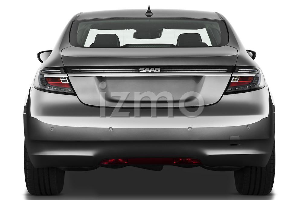 Straight rear view of a 2011 Saab 95 Vector 4 Door Sedan