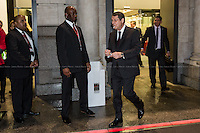 16.01.2014 - The President of Cyprus Nicos Anastasiades leaves LSE