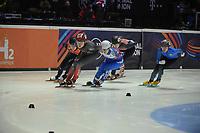 SPEEDSKATING: DORDRECHT: 05-03-2021, ISU World Short Track Speedskating Championships, Heats 1000m Ladies, Courtney Sarault (CAN), Xandra Velzeboer (NED), Evgeniya Zakharova (RSU), Valentina Ascic (CRO), Yana Khan (KAZ), ©photo Martin de Jong