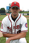 August 31, 2003:  Dan Foli of the Lansing Lugnuts, Class-A affiliate of the Chicago Cubs, during a Midwest League game at Oldsmobile Park in Lansing, MI.  Photo by:  Mike Janes/Four Seam Images