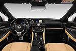 Stock photo of straight dashboard view of 2017 Lexus RC F-SPORT-Line 2 Door Coupe Dashboard