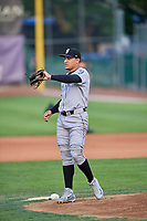 Grand Junction Rockies starting pitcher Anderson Amarista (32) during the game against the Ogden Raptors at Lindquist Field on September 9, 2019 in Ogden, Utah. The Raptors defeated the Rockies 6-5. (Stephen Smith/Four Seam Images)