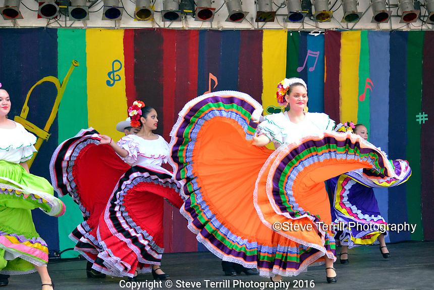 Ballet Folklorico Corazon Alegre performing at Cinco De Mayo Festival in Portland Oregon