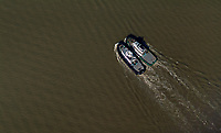 aerial photograph  of a pair of tug boats in San Francisco Bay, California