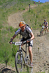 Nick Reeve (234) leaves the slope behind. Mammoth Adventure MTB Ride, Nelson<br /> Photo: Marc Palmano/shuttersport.co.nz