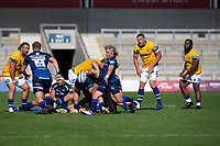 13th September 2020; AJ Bell Stadium, Salford, Lancashire, England; English Premiership Rugby, Sale Sharks versus Bath; Faf de Klerk of Sale Sharks clears the ball
