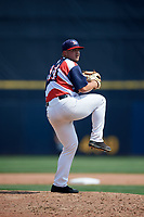 Quad Cities River Bandits relief pitcher Parker Mushinski (11) delivers a pitch during a game against the West Michigan Whitecaps on July 23, 2018 at Modern Woodmen Park in Davenport, Iowa.  Quad Cities defeated West Michigan 7-4.  (Mike Janes/Four Seam Images)