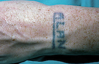 Tattoo on the arm. This image may only be used to portray the subject in a positive manner..©shoutpictures.com..john@shoutpictures.com