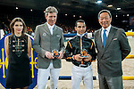 (L-R) sbat the HKJC 130 Anniversary Races of the Riders during the Longines Hong Kong Masters 2015 at the AsiaWorld Expo on 13 February 2015 in Hong Kong, China. Photo by Xaume OIleros / Power Sport Images