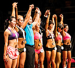 Winners in the South China Women's Sport Physique (Group A) category during the 2016 Hong Kong Bodybuilding Championships on 12 June 2016 at Queen Elizabeth Stadium, Hong Kong, China. Photo by Victor Fraile / Power Sport Images
