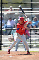 Philadelphia Phillies infielder Logan Pierce (29) during a minor league spring training game against the Pittsburgh Pirates on March 18, 2014 at the Carpenter Complex in Clearwater, Florida.  (Mike Janes/Four Seam Images)