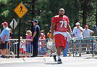 Jul 31, 2009; Flagstaff, AZ, USA; Arizona Cardinals defensive tackle (78) Alan Branch during training camp on the campus of Northern Arizona University. Mandatory Credit: Mark J. Rebilas-