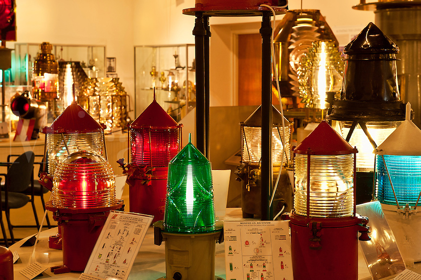 Light display, Maine Lighthouse Museum, Rockland, Maine, ME, USA