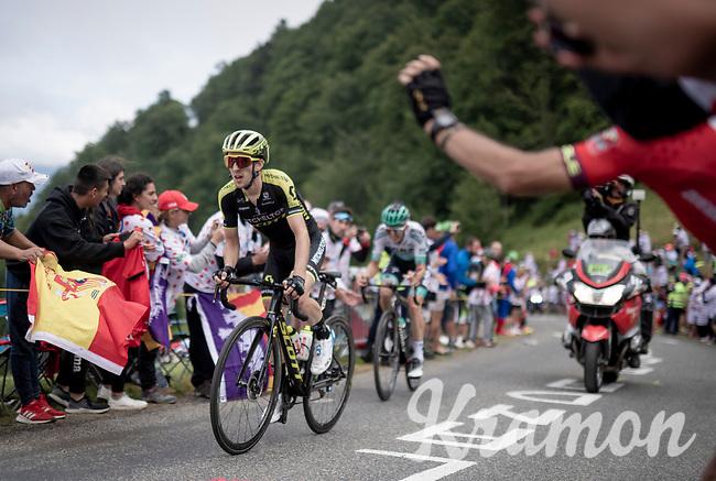 Simon Yates (GBR/Mitchelton-Scott) first up the Horquette d'Ancizan <br /> <br /> Stage 12: Toulouse to Bagnères-de-Bigorre(209km)<br /> 106th Tour de France 2019 (2.UWT)<br /> <br /> ©kramon