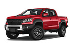 Stock pictures of low aggressive front three quarter view of 2021 Chevrolet Colorado ZR2 4 Door Pick-up Low Aggressive
