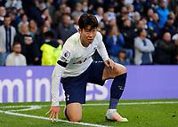 3rd October 2021; Tottenham Hotspur Stadium. Tottenham, London, England; Premier League football, Tottenham versus Aston Villa: Son Heung-Min of Tottenham Hotspur