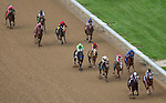 MAY 2, 2014: The field enters the final stretch of the Kentucky Oaks Stakes at Churchill Downs in Lexington, KY. Jon Durr/ESW/CSM