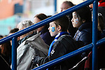 Liverpool Ladies 2 Everton Ladies 1, 19/03/2017. Select Security Stadium, SSE FA Cup Fifth Round. Everton fans during the game between Liverpool Ladies v Everton Ladies at The Select Security Stadium, Widnes, in the Women's SSE FA Cup Fifth Round. Photo by Paul Thompson.