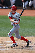 April 11, 2010:  First overall draft pick of the 2009 MLB Draft Stephen Strasburg (37) during his first at bat making his professional debut with the Harrisburg Senators, Double-A affiliate of the Washington Nationals, in a game vs. the Altoona Curve, affiliate of the Pittsburgh Pirates, at Blair County Ballpark in Altoona, PA.  Photo By Mike Janes/Four Seam Images