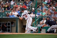Rochester Red Wings Wynston Sawyer (16) at bat during an International League game against the Scranton/Wilkes-Barre RailRiders on June 24, 2019 at Frontier Field in Rochester, New York.  Rochester defeated Scranton 8-6.  (Mike Janes/Four Seam Images)