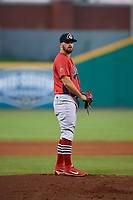 Peoria Chiefs pitcher Jake Dahlberg (13) gets ready to deliver a pitch during a game against the Bowling Green Hot Rods on September 15, 2018 at Bowling Green Ballpark in Bowling Green, Kentucky.  Bowling Green defeated Peoria 6-1.  (Mike Janes/Four Seam Images)