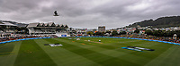 A panoramic view during day three of the second International Test Cricket match between the New Zealand Black Caps and West Indies at the Basin Reserve in Wellington, New Zealand on Sunday, 13 December 2020. Photo: Dave Lintott / lintottphoto.co.nz