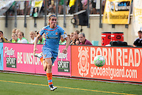 Heather O'Reilly (9) of Sky Blue FC. The Philadelphia Independence defeated Sky Blue FC 2-1 during a Women's Professional Soccer (WPS) match at Leslie Quick Stadium in Chester, PA, on August 7, 2011.