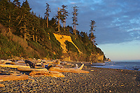 Sunset near Ruby Beach, Olympic Coast, Washington, June.