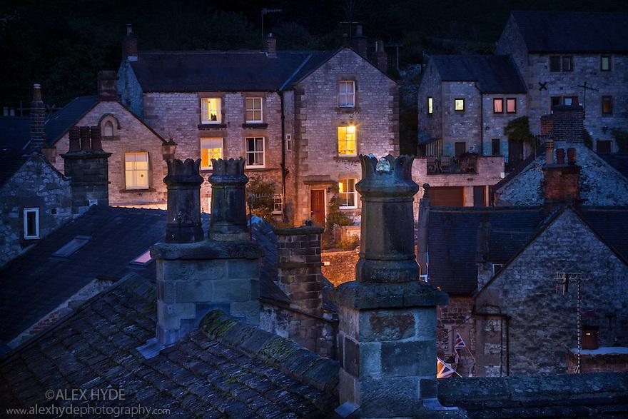 Bonsall village at night. Derbyshire, UK.