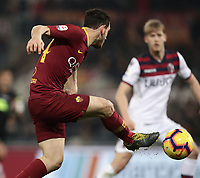 Football, Serie A: AS Roma - Bologna FC, Olympic stadium, Rome, February 18, 2019. <br /> Roma's Alessandro Florenzi in action with  during the Italian Serie A football match between AS Roma and Bologna FC at Olympic stadium in Rome, on February 18, 2019.<br /> UPDATE IMAGES PRESS/Isabella Bonotto
