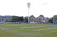 Essex and Kent teams kneel down prior to the start of the match during Essex CCC vs Kent CCC, Bob Willis Trophy Cricket at The Cloudfm County Ground on 1st August 2020